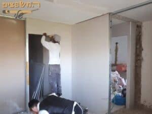 בניית קיר גבס ביחידת דיור