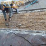 הכנות ליציקת בטון באחד משלבי השיפוץ