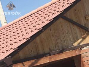 ביצוע בניית גג רעפים בצורה אטומה ומקצועית כולל מרזבים וארגזי רוח