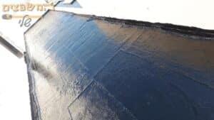זפת קר בגג צר ואורך כ 70 מר